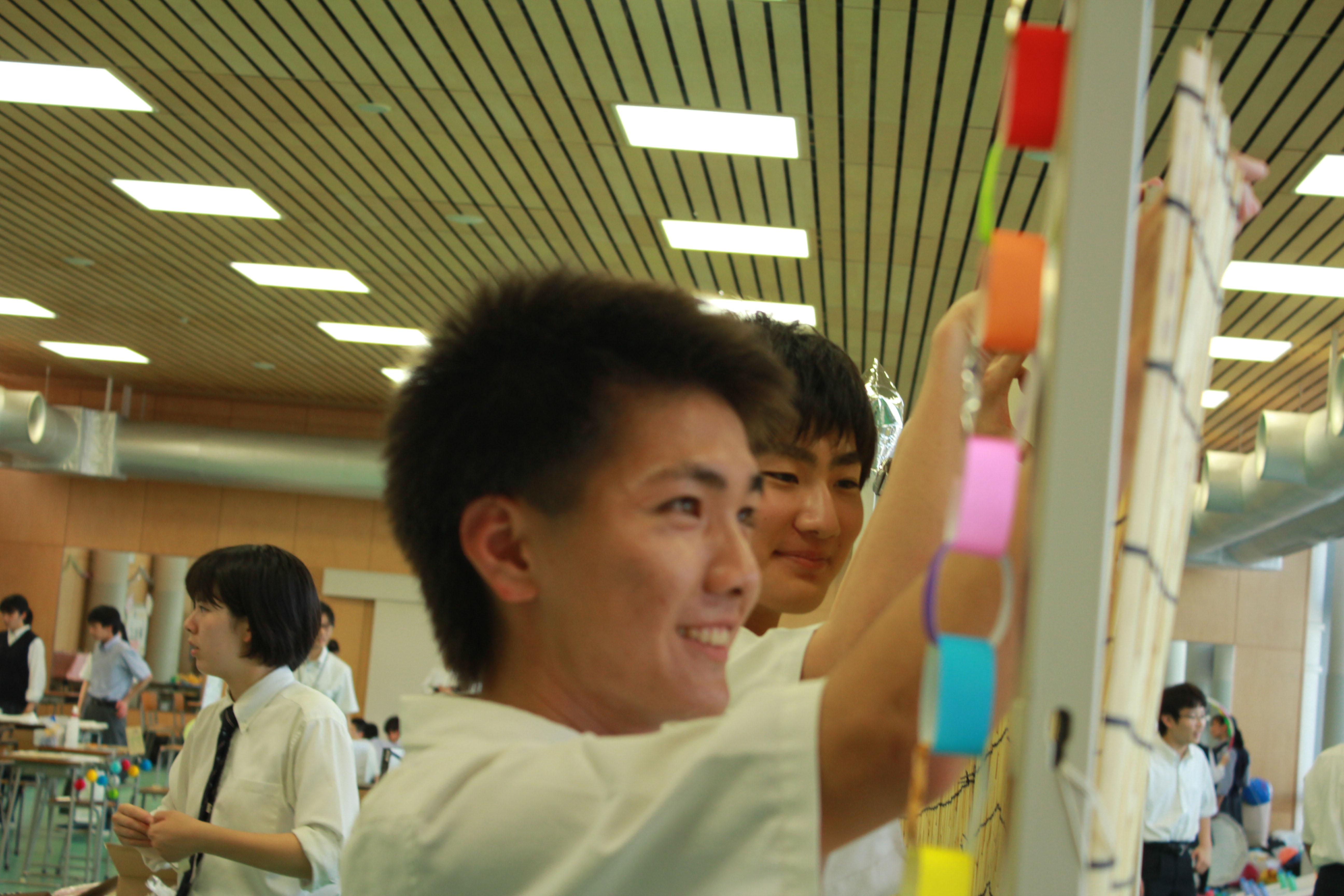 160816校内文化祭武道館準備