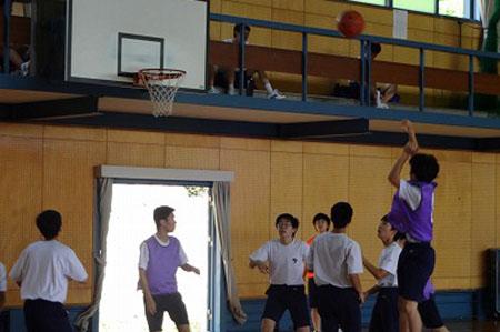 高校1年前期体育祭バスケットボール
