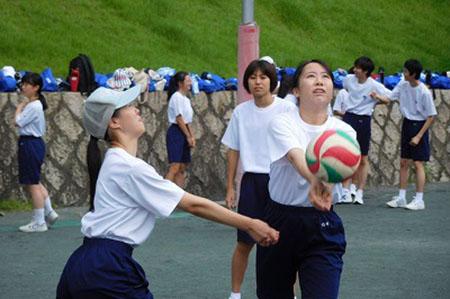 高校1年前期体育祭バレーボール