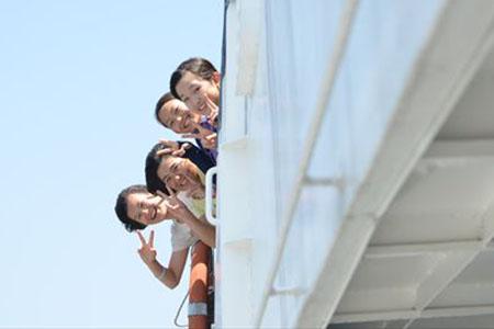 j2サマキャンプ1日目北木島船