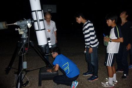 s1サマーキャンプ3日目星空観測